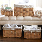 Lined Storage Baskets