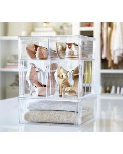Tall and Stackable Shoe Bin Storage