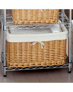 An image of two cotswold lined rattan baskets