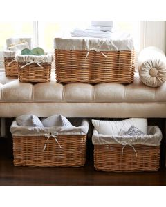 Lined Rectangular Basket | @ The Holding Company