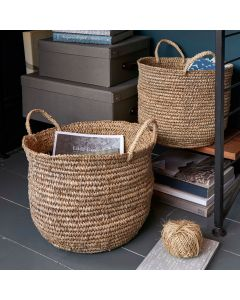 Round Silver Raffia Container | @ The Holding Company