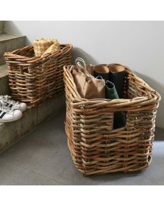 Perpendicular Shape Basket Rattan | @ The Holding Company
