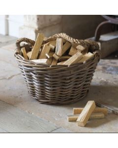 Harvest Basket With Rope Handles   Garden Trading Company