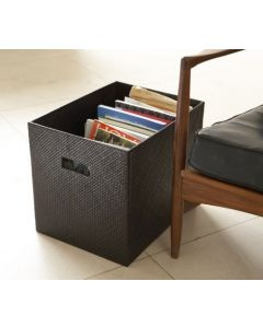 Woven Open Box With Cut Out Handles Brown| @ The Holding Company