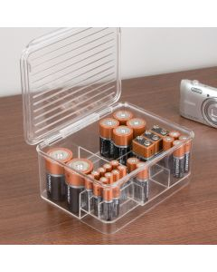Linus Stackable Battery Organizer Box