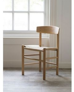 Longworth Oak Chair With Jute Seat Pad | Garden Trading Company
