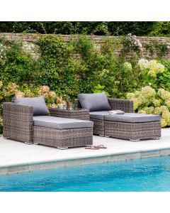 Hackney Double Lounger Set