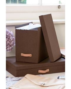 Canvas File Box with 8 Hanging Files | Bigso Box