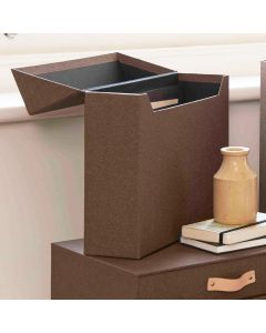 Canvas Filing Box with 12 Dividers by Bigso Box of Sweden