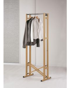 Snake 60 Wheeled Foldable Wooden Garment Rack