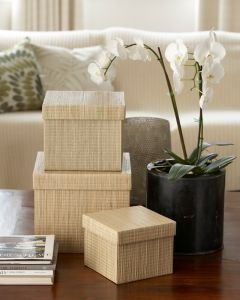 Square Storage Box Mendong Natural