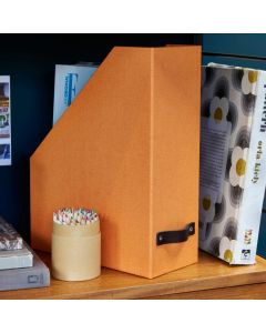 Canvas Magazine File with Leather Handle | Bigso