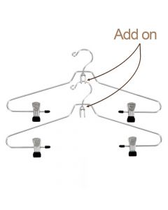 Add-on Metal Chrome Hanger 2 Pack