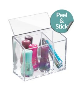 InterDesign | Peel and Stick Cosmetic Organiser with Lid