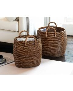 Oval Tapered Basket with Jute Handles | @ The Holding Company