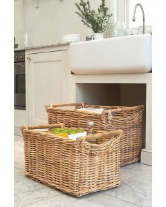 Rattan Basket with Handle | @ The Holding Company