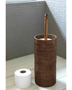 Rattan Toilet Roll Holder| @ The Holding Company