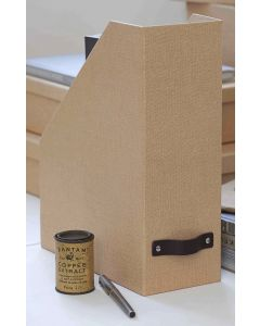 Canvas Magazine Holder with Leather Handle | Bigso