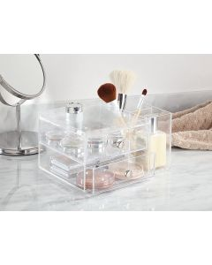 InterDesign | Stacking 2 Drawer with Side Organiser