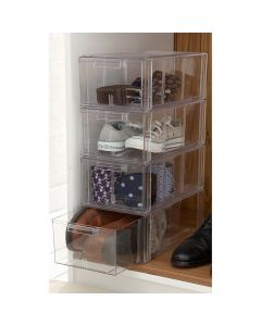 Large Clear Stackable Shoe Storage Drawers | UK Exclusive