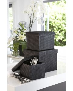 Mendong Black Storage Box Square