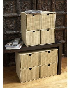 Mendong Woven DVD Storage Box Natural