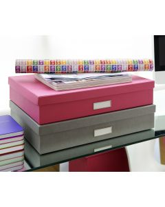 Sverker A3 Document Box Pink | Bigso