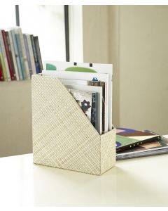 Pandanus Woven Magazine File | Natural White