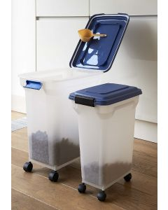 Pet Food Storage Box on Wheels with Scoop