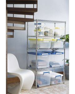 Metro/Olympic Industrial Chrome Shelving Unit
