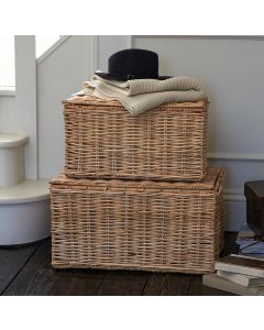 Rattan Trunk with Hinged Lid| @ The Holding Company