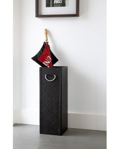 Pandanus Square Umbrella Stand Dark Brown