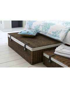 Marlow Underbed Storage: Lined Rattan Basket