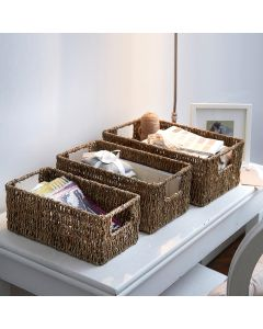 Seagrass Rectangle Storage Basket | The Holding Company