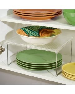InterDesign | Kitchen Cabinet Storage Shelf With Plastic Top