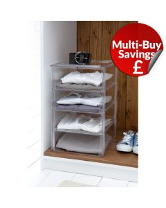 Shirt Storage: Open Stackable Cubby