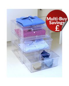 Shirt Storage: Stackable Drawer