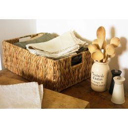 Water Hyacinth Rectangle Basket| @ The Holding Company