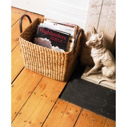 Whitby Water Hyacinth Tapered Basket