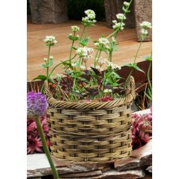 Rattan Oval Log Basket | TOBS