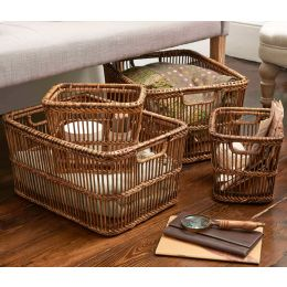 Spindle Rattan Basket | The Holding Company