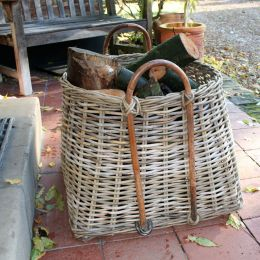 Chunky Rattan Round Basket With Square Base | @ The Holding Company