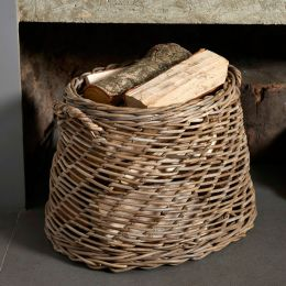Large Rattan Open Weave Round Basket | @ The Holding Company