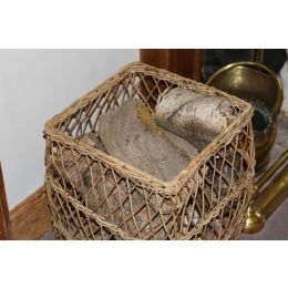 Rattan Open Weave Square Basket - Reduced To Clear | @ The Holding Company