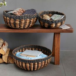 Water Hyacinth Round Basket | @ The Holding Company
