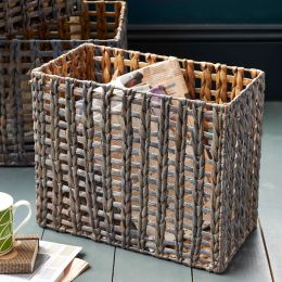 Water Hyacinth High Rectangular Basket | @ The Holding Company
