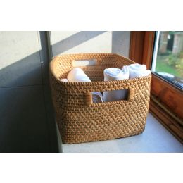 Rattan Basket with Cut Out Handle | @ The Holding Company