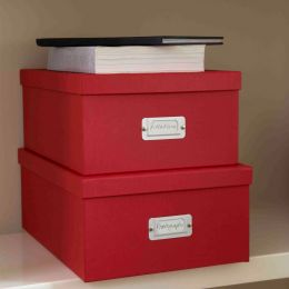 Document Storage Box Red | Bigso