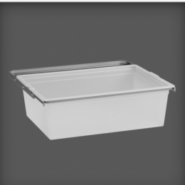 Elfa Gliding Translucent Drawer with Frame