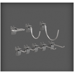 Elfa™  Set of  Hooks Pack of 8